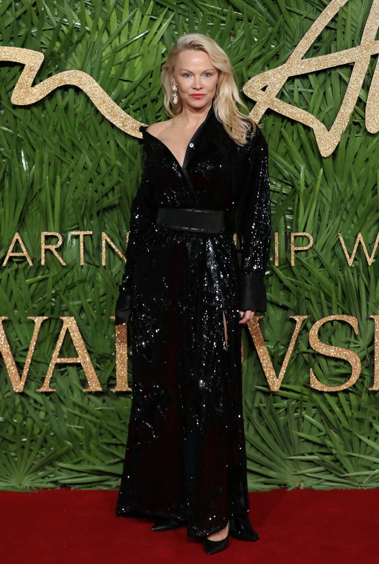 Pamela Anderson at The British Fashion Awards 2017 in partnership with Swarovski held at the Royal Albert Hall in London