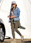 Paula Patton stops by a Christmas tree lot with her son in Malibu, California