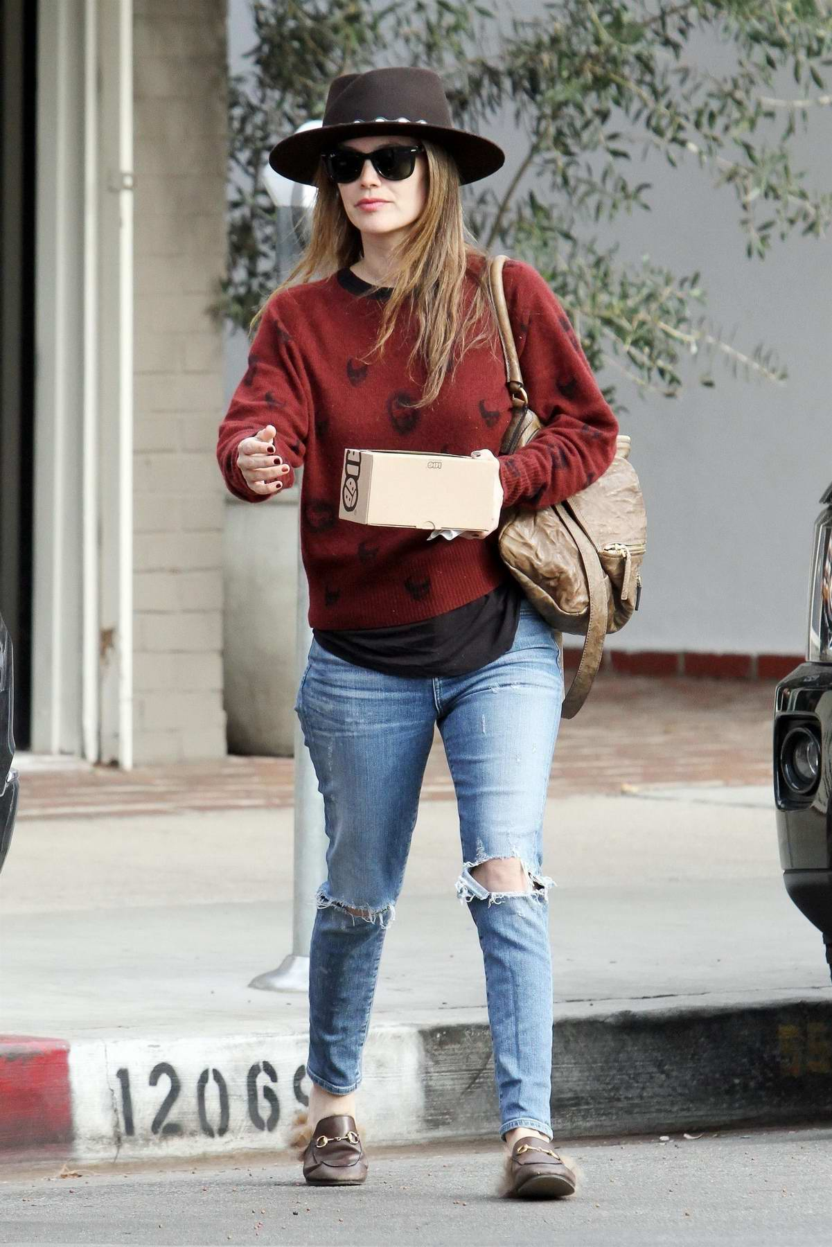 Rachel Bilson rocks a fedora as picks up some snacks at Joan's on Third in Los Angeles