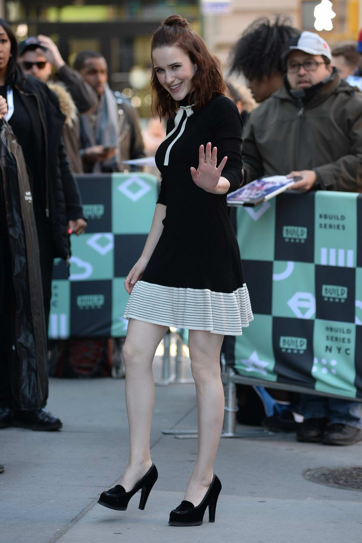 Rachel Brosnahan made an appearance at the AOL Build Series in New York
