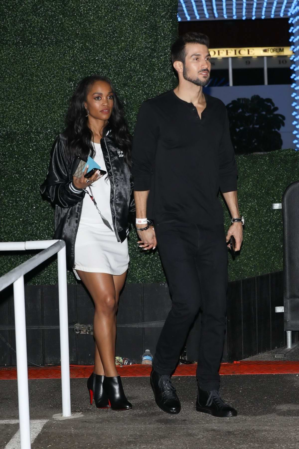 Rachel Lindsay and Bryan Abasolo show off their love at Jingle Ball 2017 at The Forum in Inglewood, California