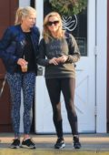 Reese Witherspoon out for breakfast with a friend at Caffe Luxxe in Brentwood, Los Angeles