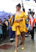 Rihanna attending the official street naming ceremony of Rihanna Drive in Barbados