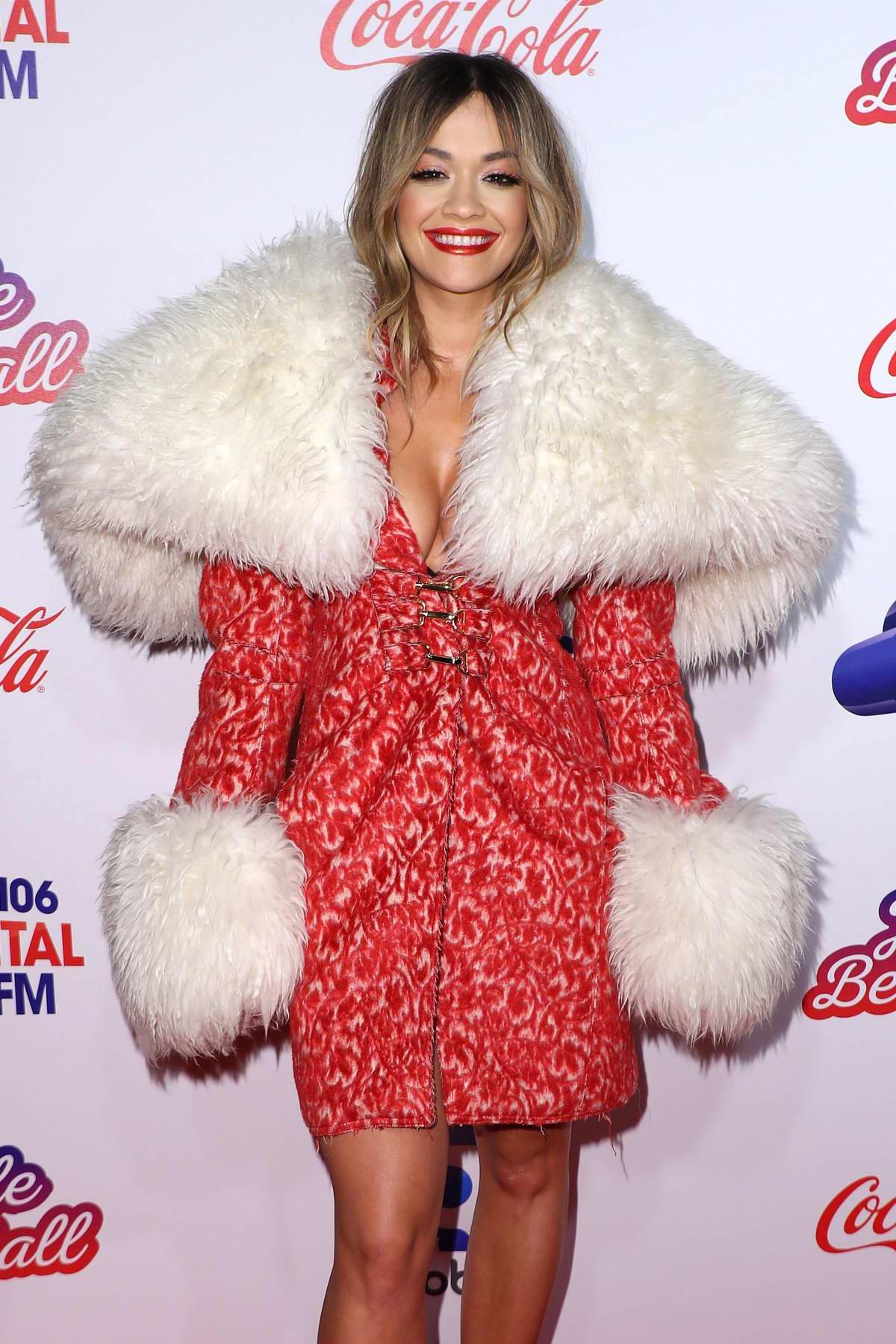 Rita Ora at Capital's Jingle Bell Ball at the O2 Arena in London