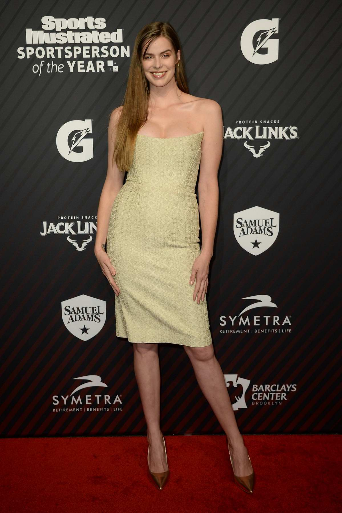 Robyn Lawley at the Sports Illustrated Sportsperson of the Year Awards at Barclay Center in New York