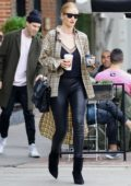 Rosie Huntington-Whiteley and Jason Statham out on a coffee run in West Hollywood, Los Angeles