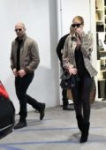 Rosie Huntington-Whiteley and Jason Statham spotted as they leave Saint Laurent in Beverly Hills, Los Angeles