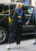 Saoirse Ronan arriving at 30 Rockefeller Center for Saturday Night Live rehearsals in New York City