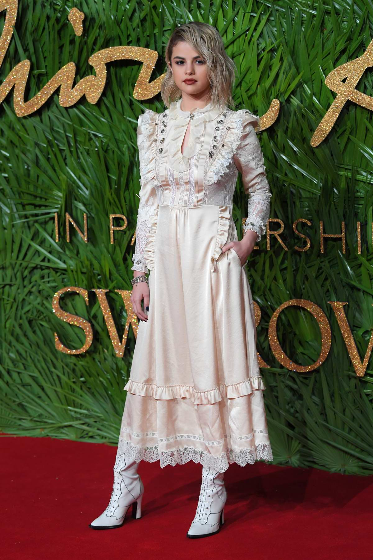 Selena Gomez attends The British Fashion Awards 2017 in partnership with Swarovski held at the Royal Albert Hall in London