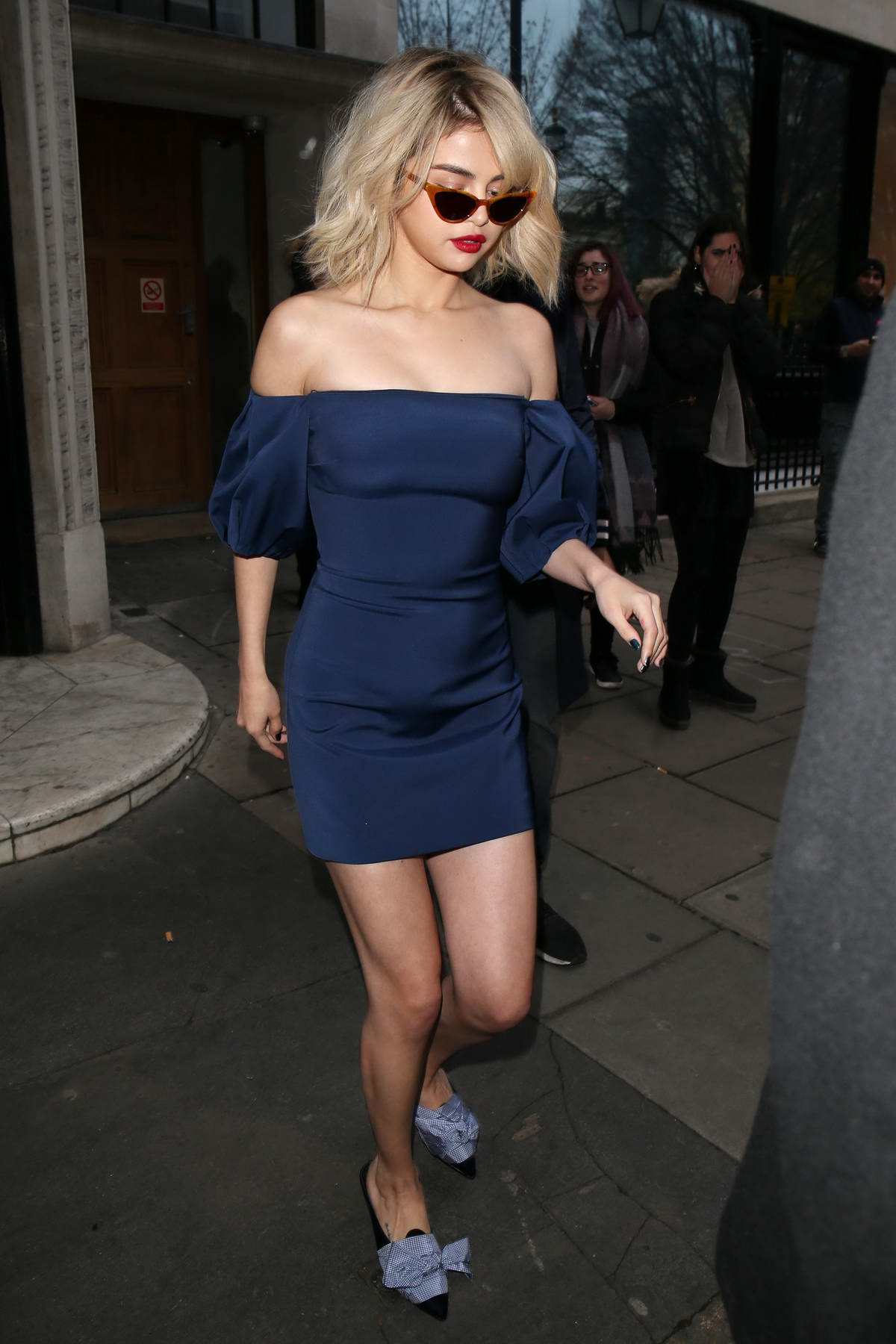 Selena Gomez spotted outside BBC Radio 1 in London