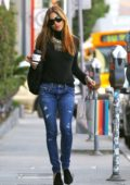 Selma Blair continues with her Christmas shopping while sipping on coffee,West Hollywood, Los Angeles