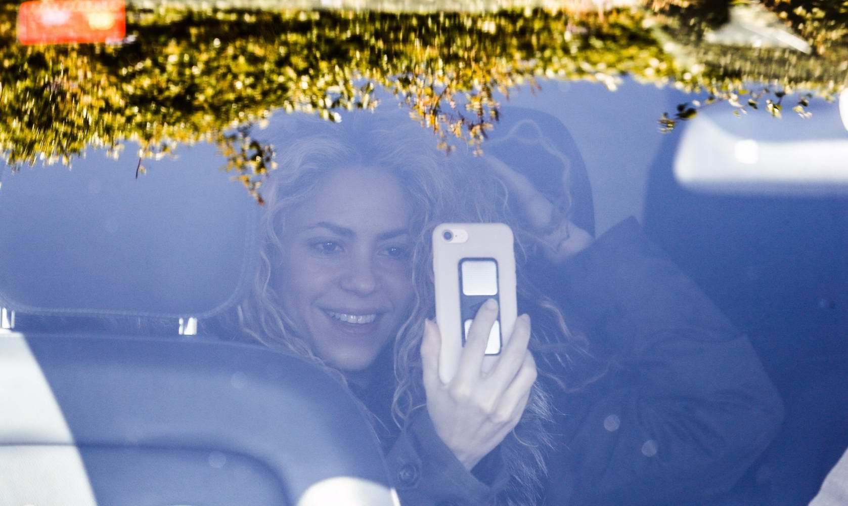 Shakira seen after returning home from a medical center in Barcelona, Spain