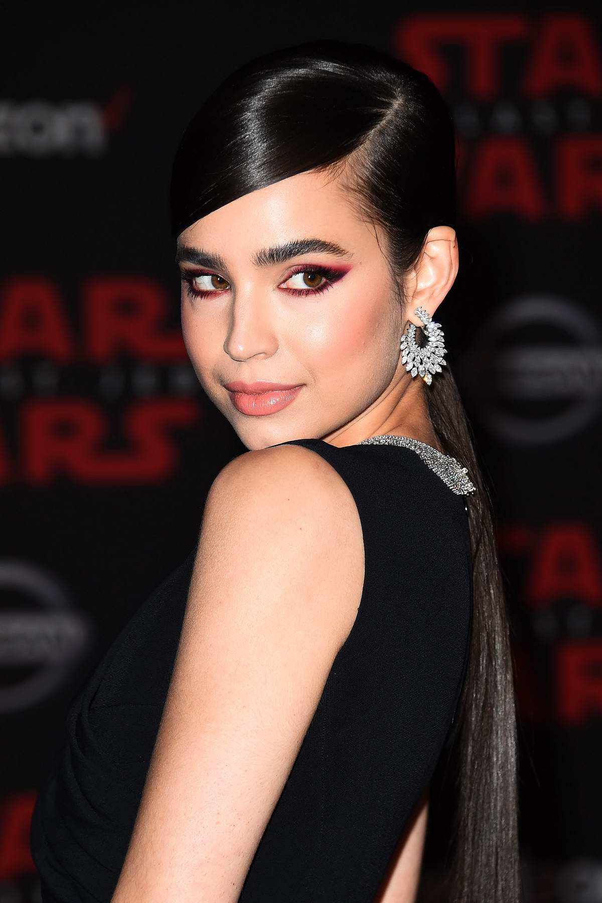 Sofia Carson at the World premiere for 'Star Wars: The Last Jedi' at the Shrine Auditorium in Los Angeles