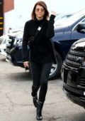 Sofia Richie changes her hair color back to natural brunette at Meche Salon in Beverly Hills, Los Angeles