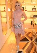 Tallia Storm at Fendi Sloane Square boutique opening in London