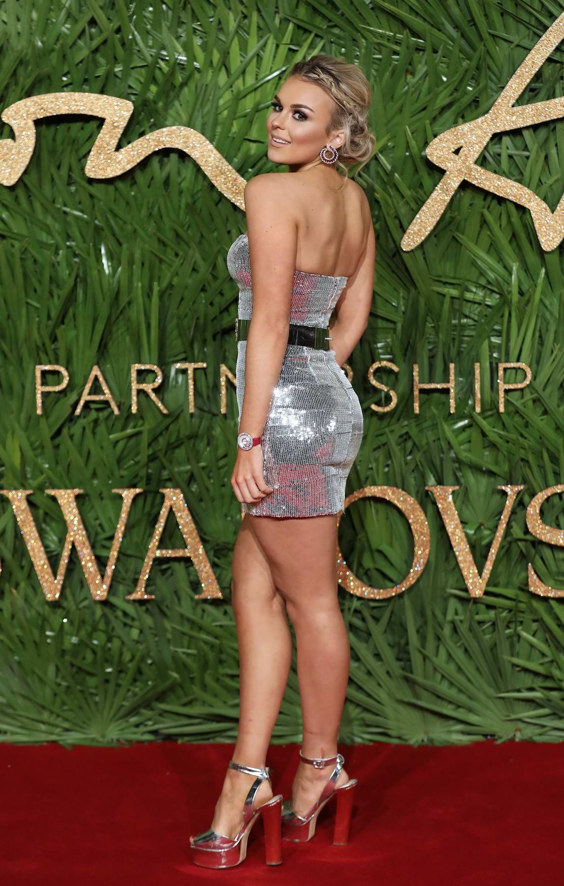 Tallia Storm attends The British Fashion Awards 2017 in partnership with Swarovski held at the Royal Albert Hall in London