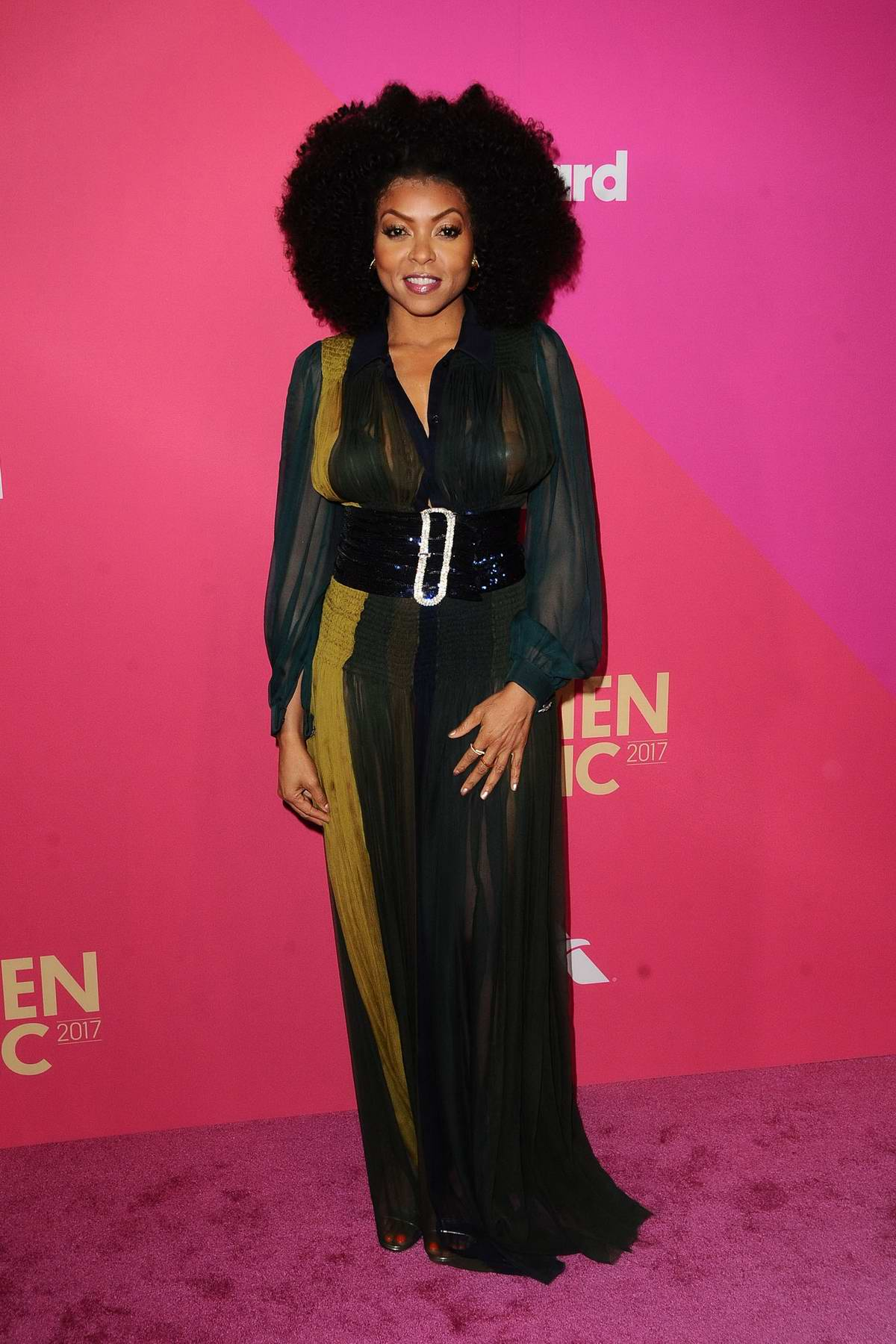 Taraji P Henson at the 2017 Billboard Women in Music in Los Angeles