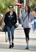 Teri Hatcher and daughter Emerson Tenney leaves after their workout at the gym in Los Angeles