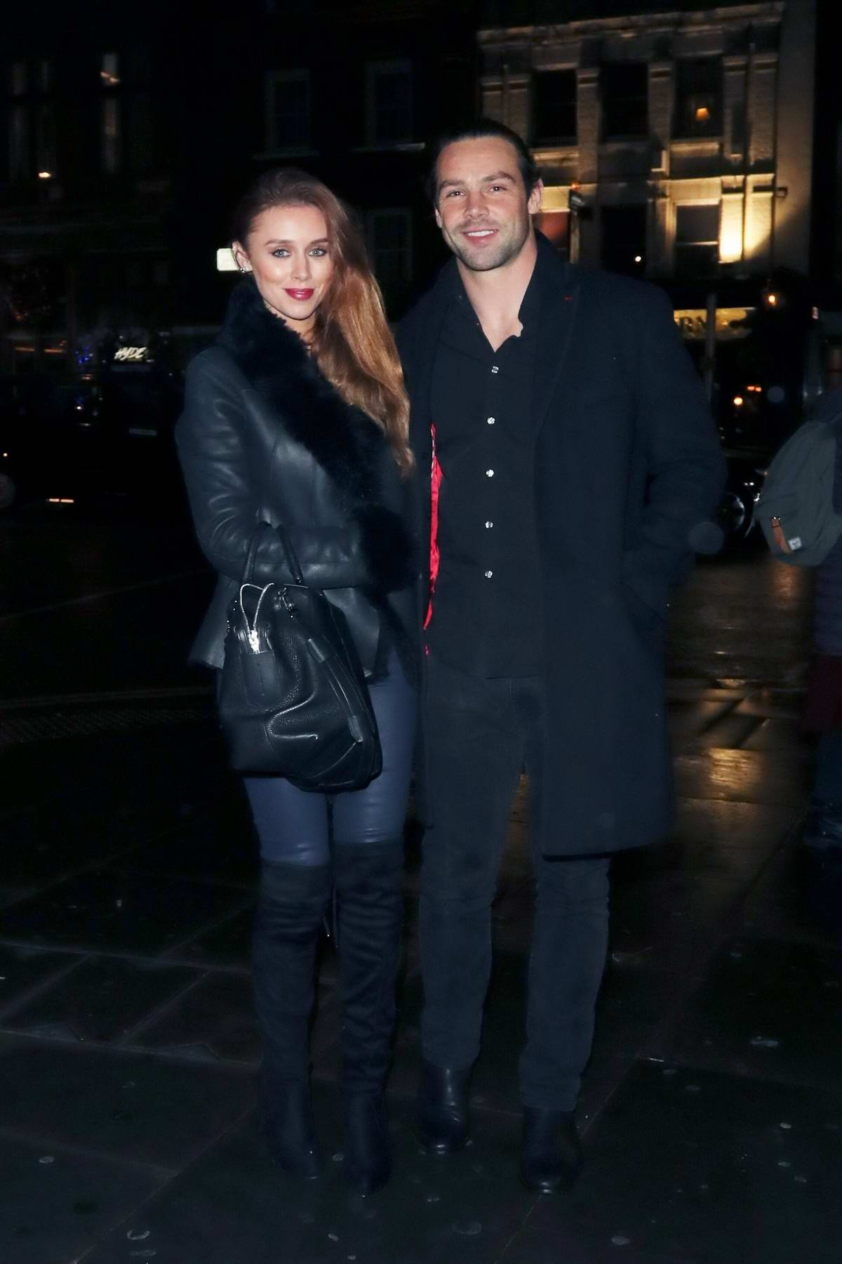Una Healy and Ben Foden spotted outside Mahiki Kensington in London