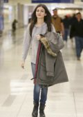 Victoria Justice arriving from a flight at LAX airport in Los Angeles