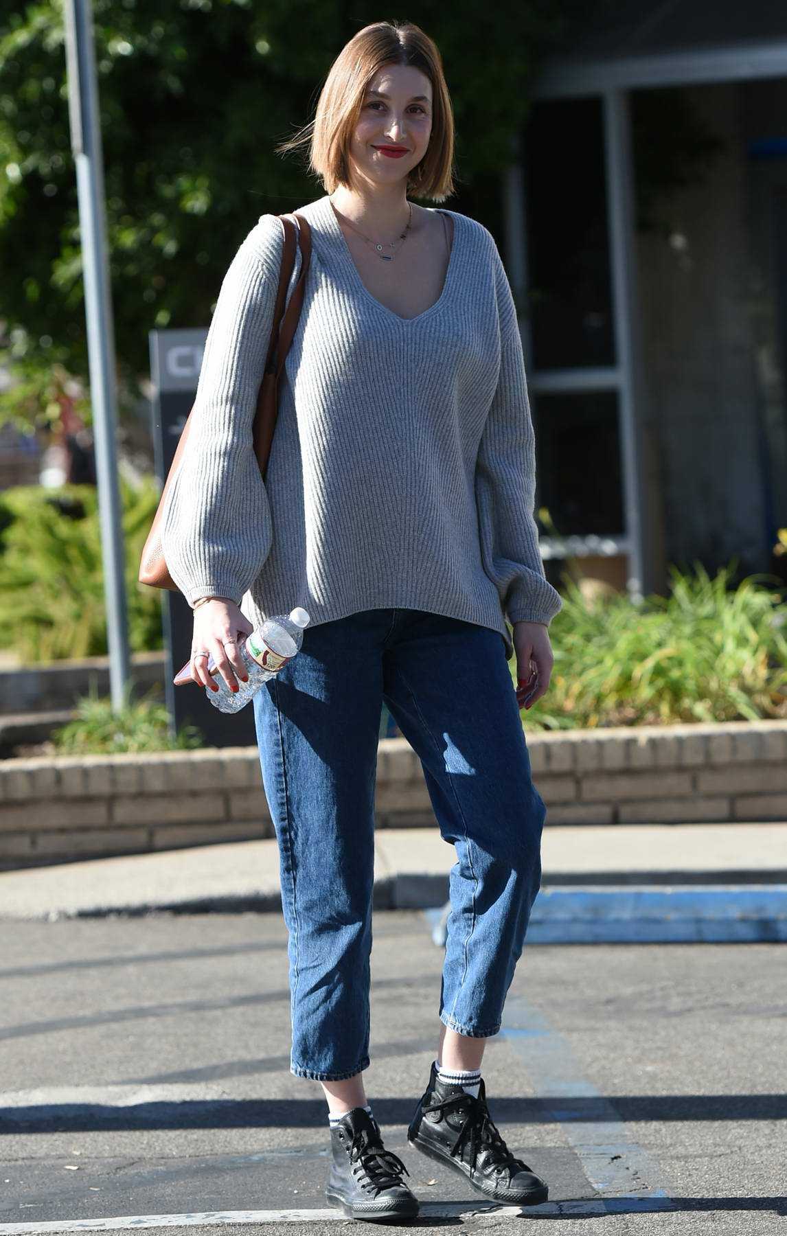 Whitney Port shows off her new short hairdo while out with husband Tim Rosenman in Los Angeles