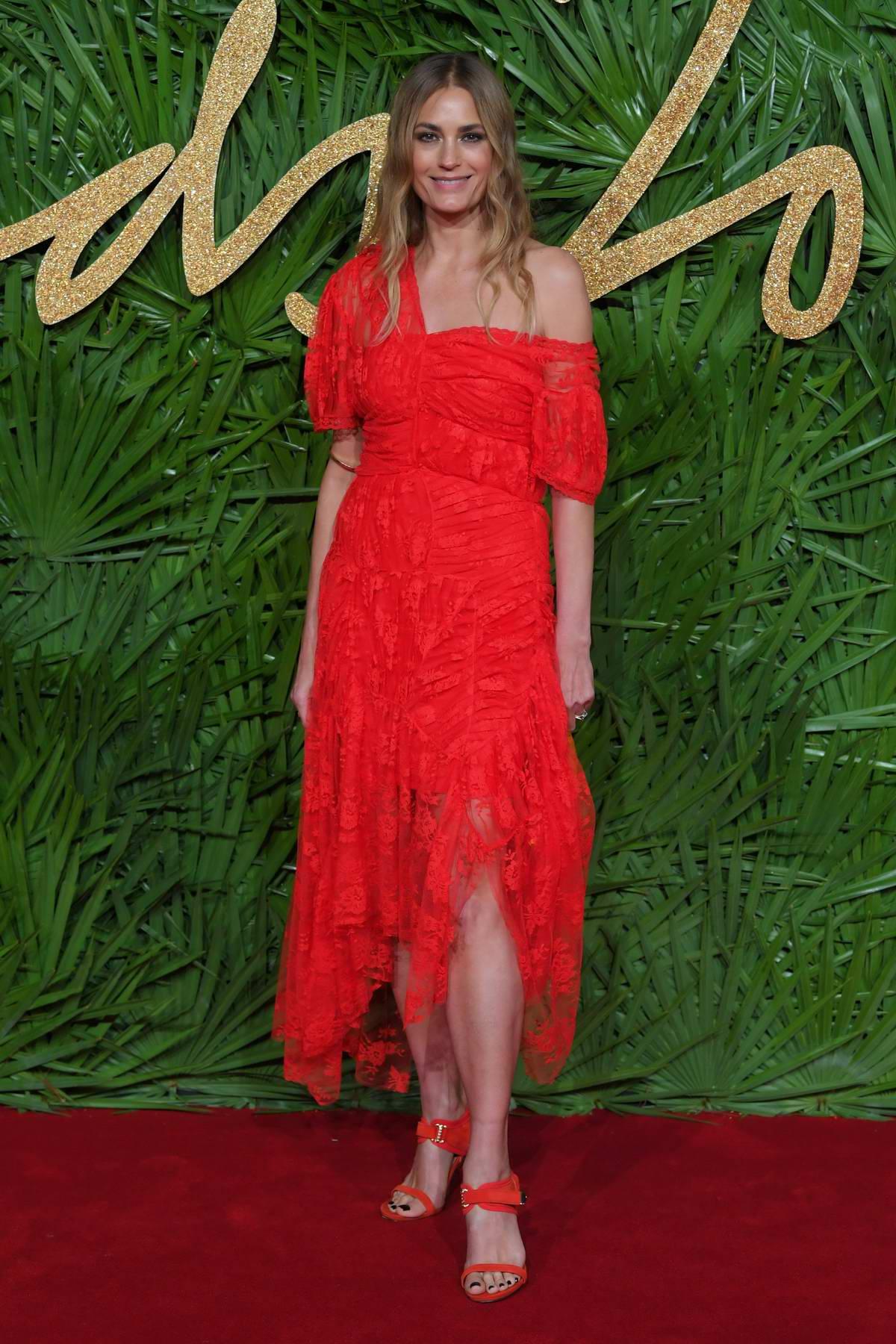 Yasmin Le Bon at The British Fashion Awards 2017 in partnership with Swarovski held at the Royal Albert Hall in London
