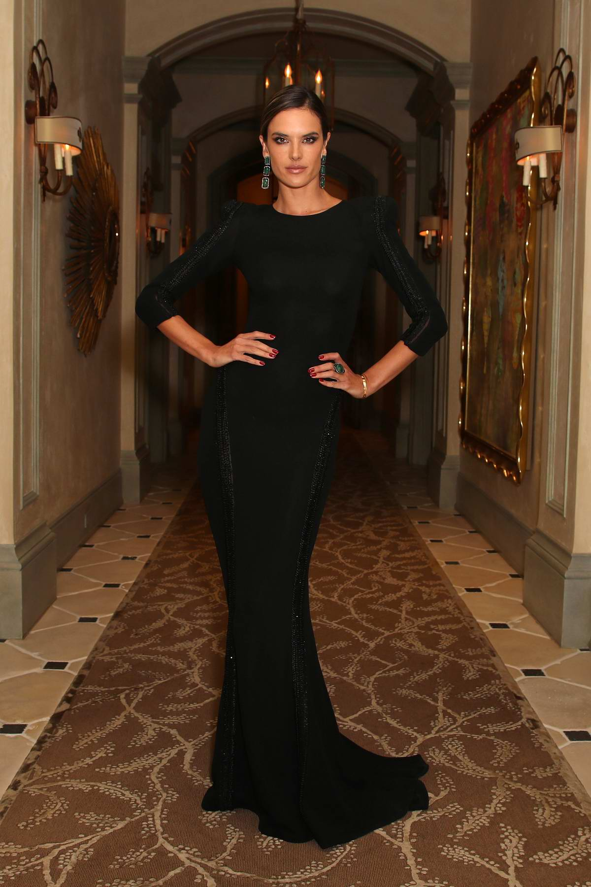 Alessandra Ambrosio attends The Winter Gala in Los Angeles
