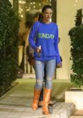 Alessandra Ambrosio leaves with her mom after dinner at Mr Chow in Malibu, California