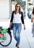 Alessandra Ambrosio out and about while doing some shopping in Brentwood, Los Angeles
