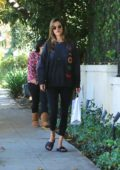Alessandra Ambrosio out for a stroll with her son in Brentwood, Los Angeles