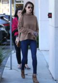Alessandra Ambrosio seen arriving at the Range Rover dealership with her mom in Santa Monica, California