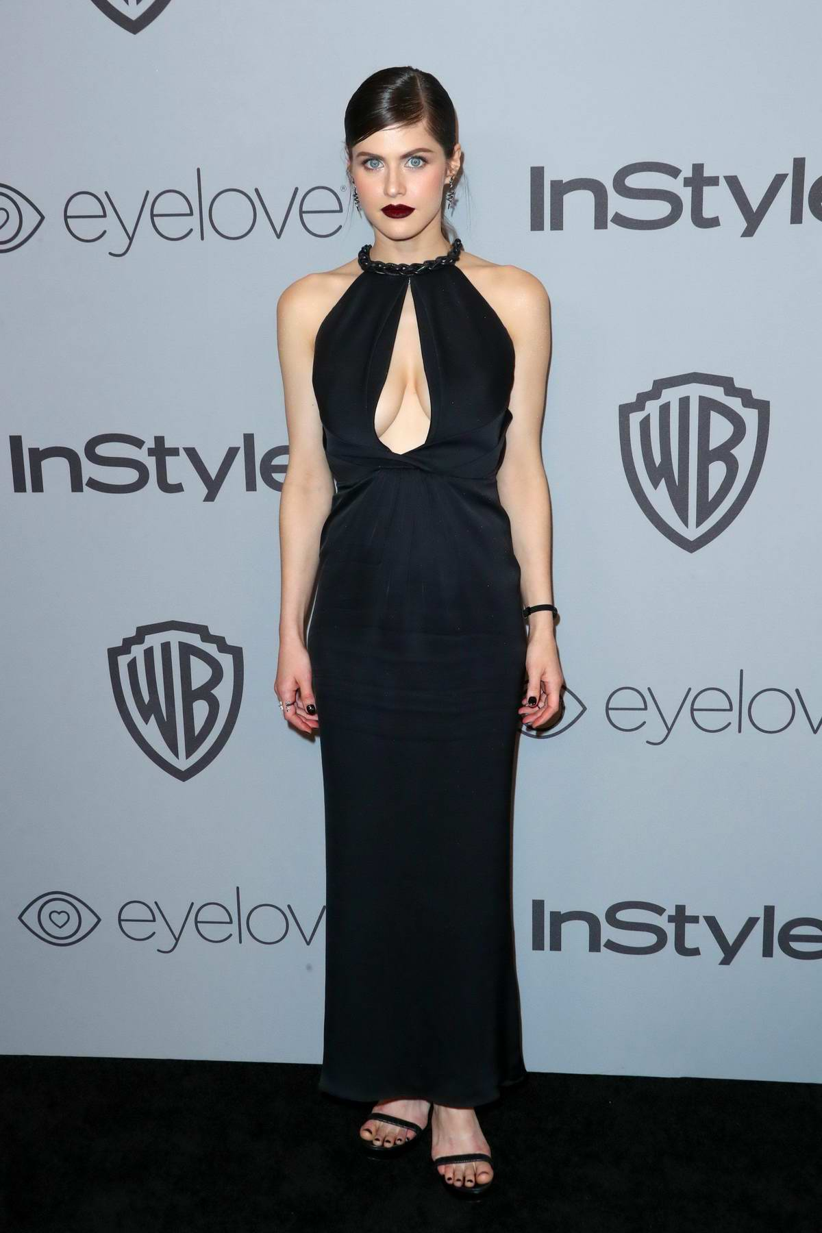 Alexandra Daddario at InStyle & Warner Bros Golden Globes after party in Los Angeles