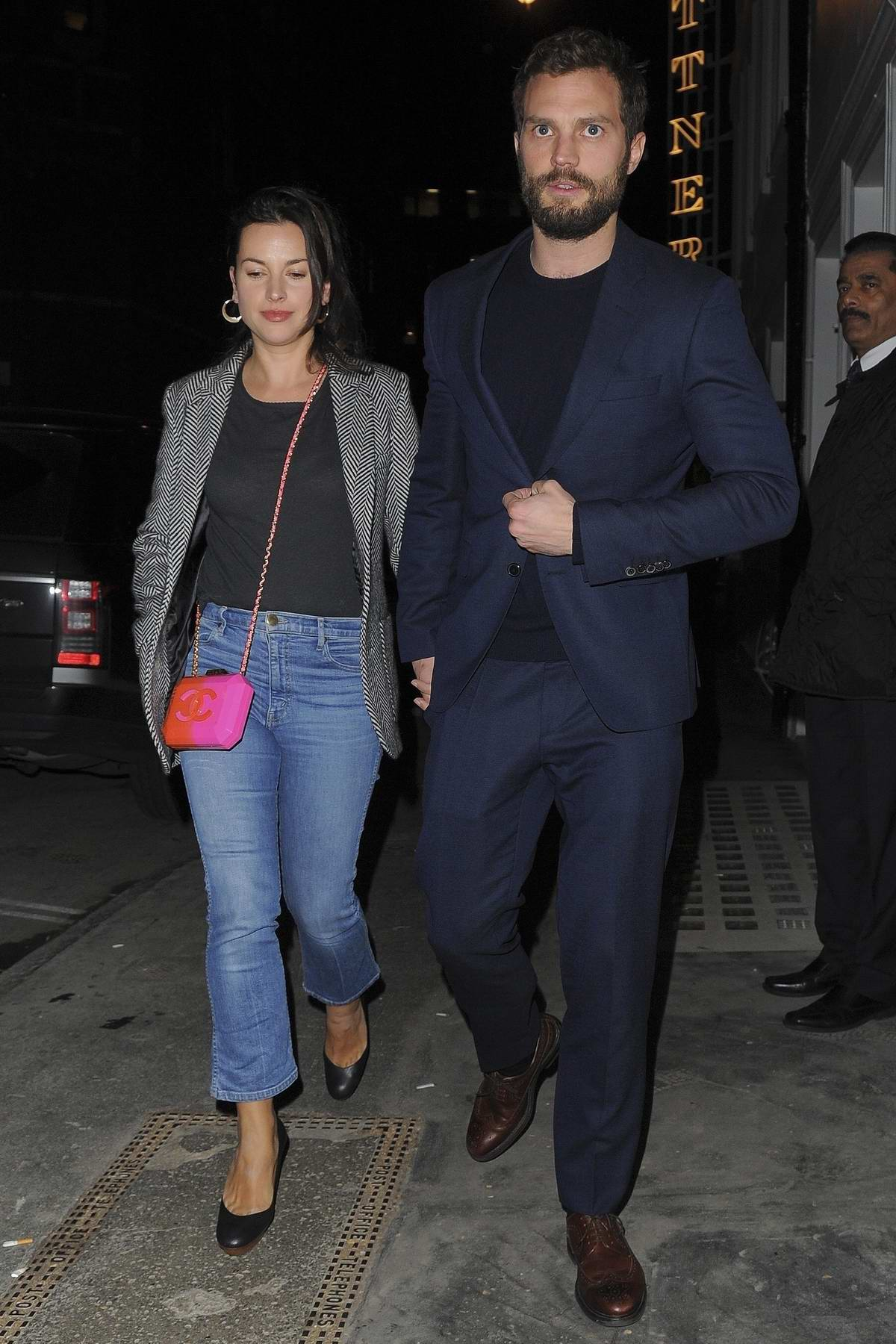 Amelia Warner and Jamie Dornan arrives at Soho House VIP Relaunch Party in London