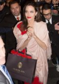 Angelina Jolie leaving Guerlain Store in Paris, France