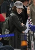 Anna Kendrick spotted at the LAX airport as she arrives back to Los Angeles