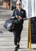 Ashlee Simpson rocks her Adidas workout gear as she leaves Tracy Anderson Gym in Los Angeles