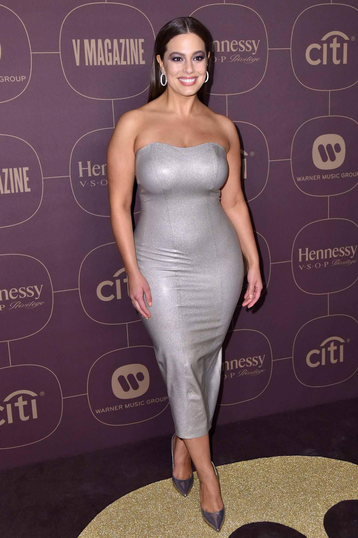 Ashley Graham at Warner Music Pre-Grammy Party in New York City