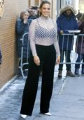 Ashley Graham leaving the 'The View' TV show in The Upper West Side in New York City