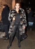 Ashley Graham seen arriving at 'The Daily Show With Trevor Noah' in New York City