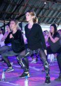 Ashley Greene and Audrina Patridge at Kohl's X Studio Tone It Up at Barker Hangar in Santa Monica, California