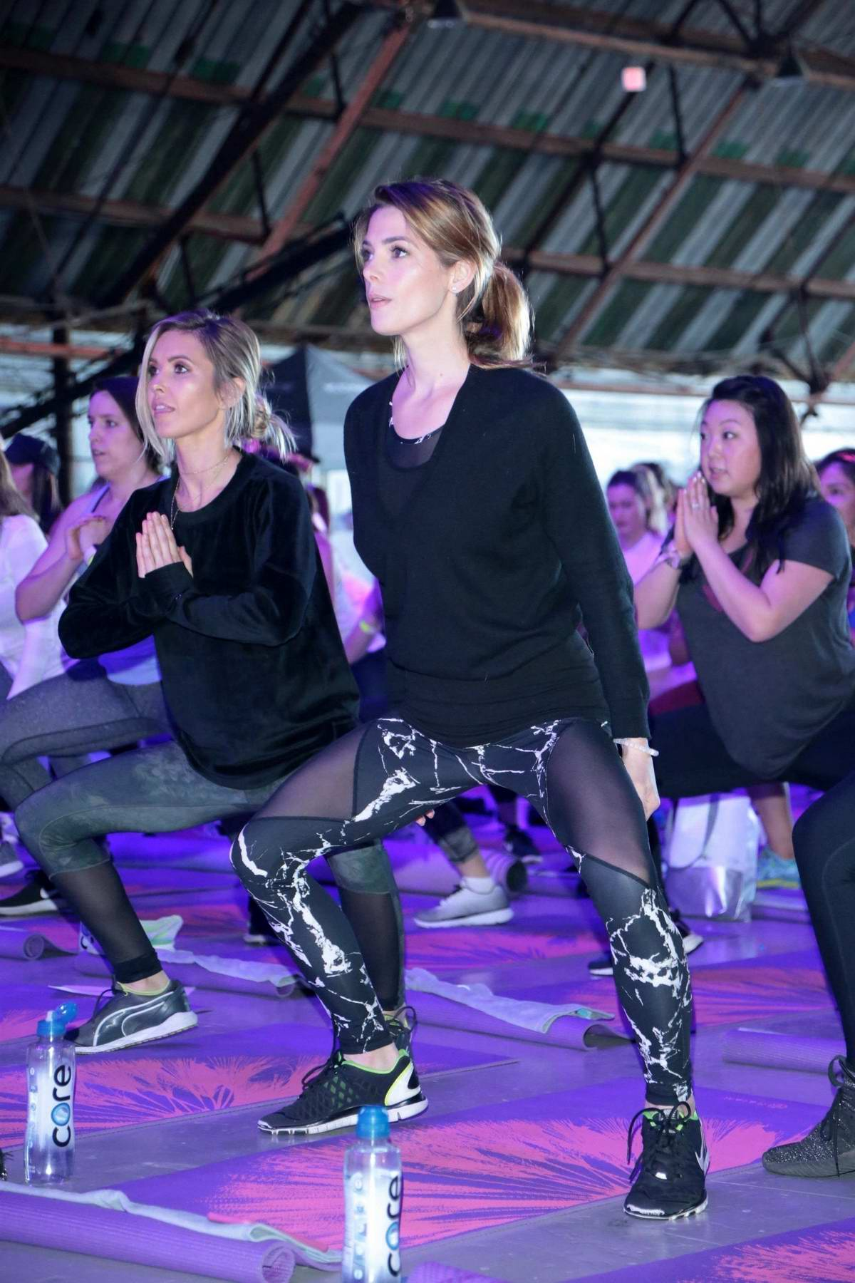 Ashley Greene and Audrina Patridge at Kohl's X Studio Tone It Up at Barker Hangar in Santa Monica, California