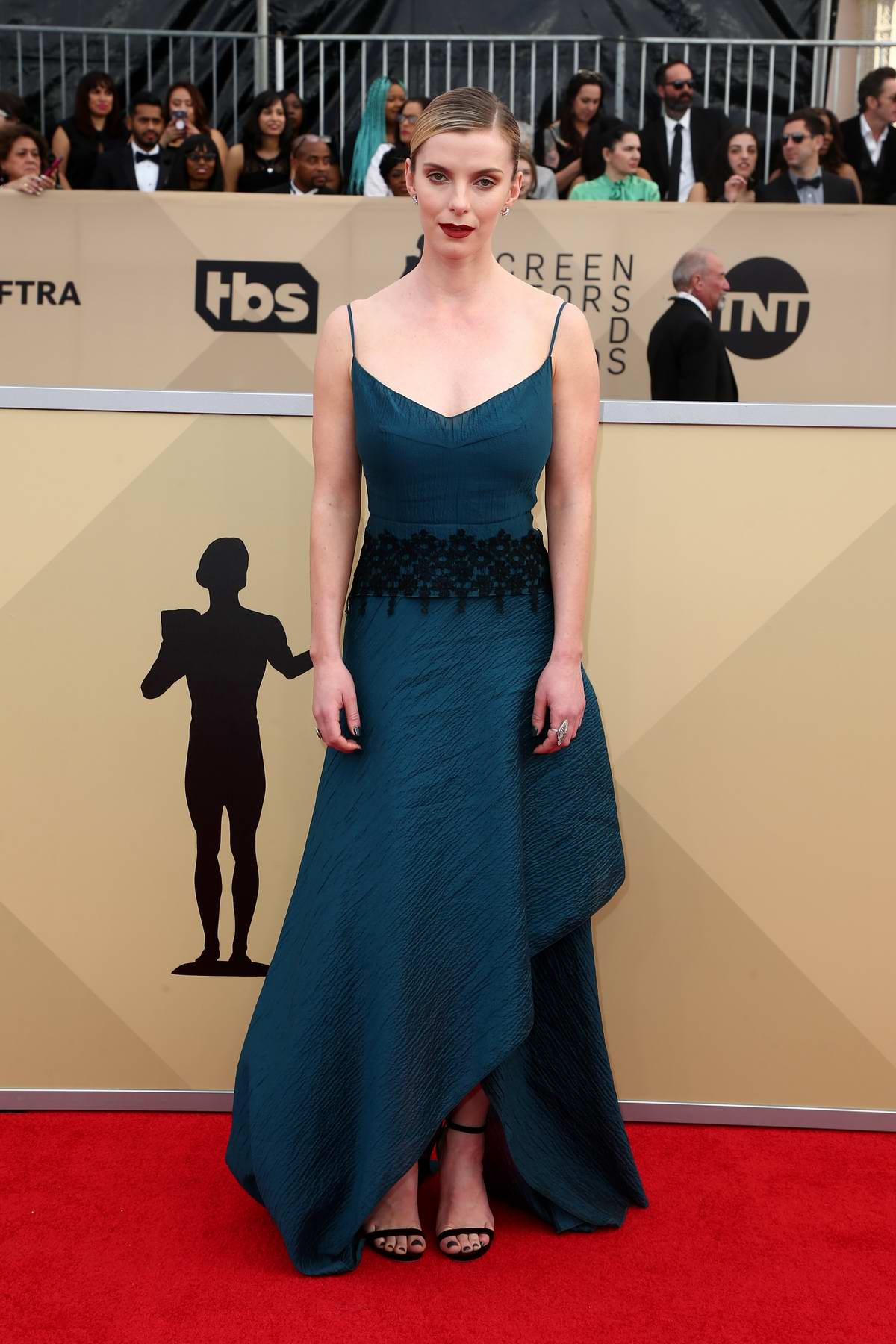 Betty Gilpin attends the 24th Annual Screen Actors Guild (SAGs) Awards 2018 at The Shrine Auditorium in Los Angeles