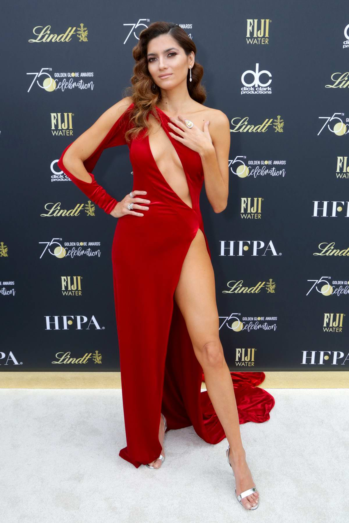 Blanca Blanco at the 75th Annual Golden Globe Awards in Beverly Hills, Los Angeles