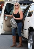 Brooke Hogan arrives at a salon in Los Angeles