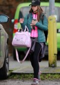 Brooke Vincent leaves Silver Blades Ice Rink in Altrincham, UK