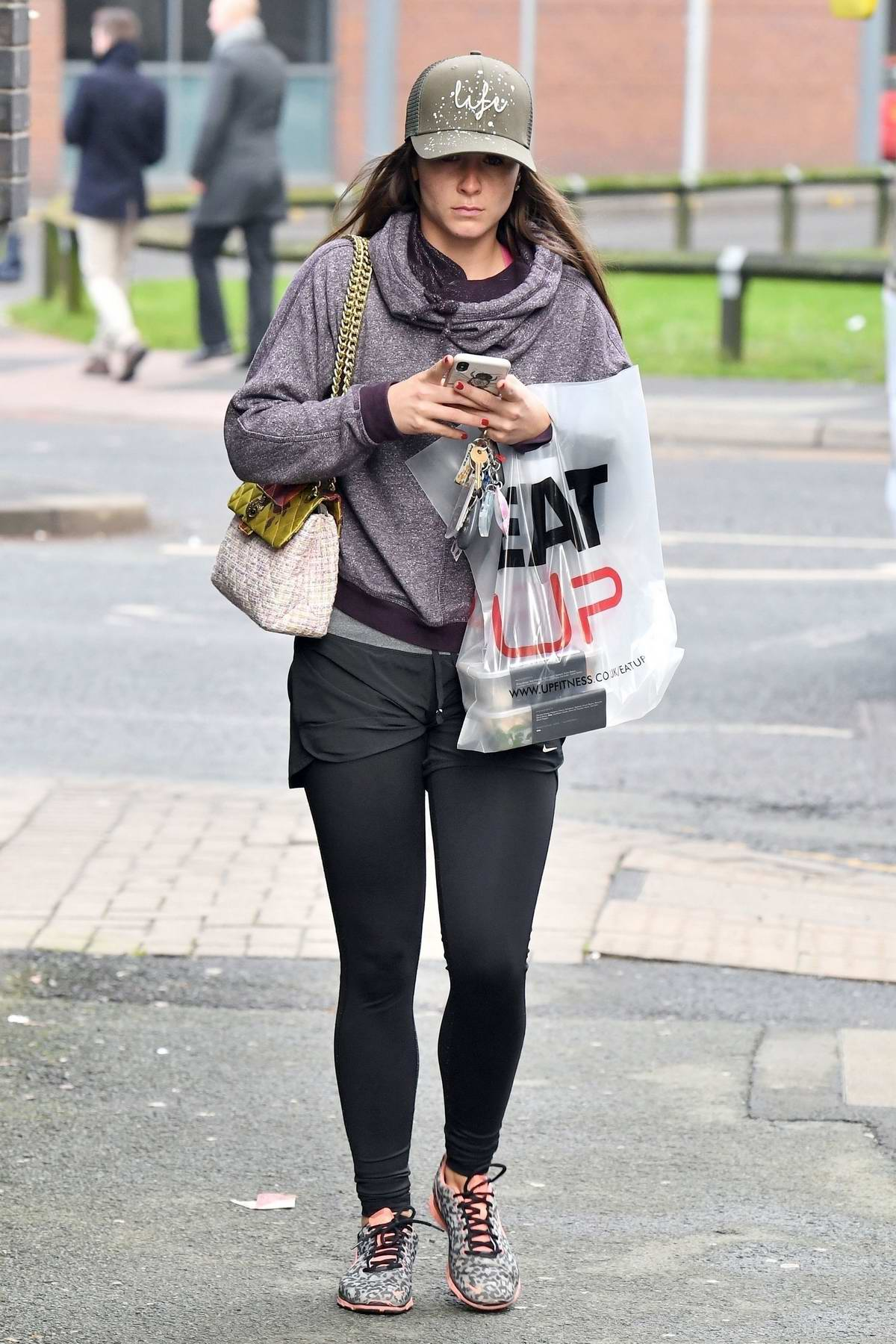 Brooke Vincent spotted as she leaves UPT Fitness in Manchester, UK