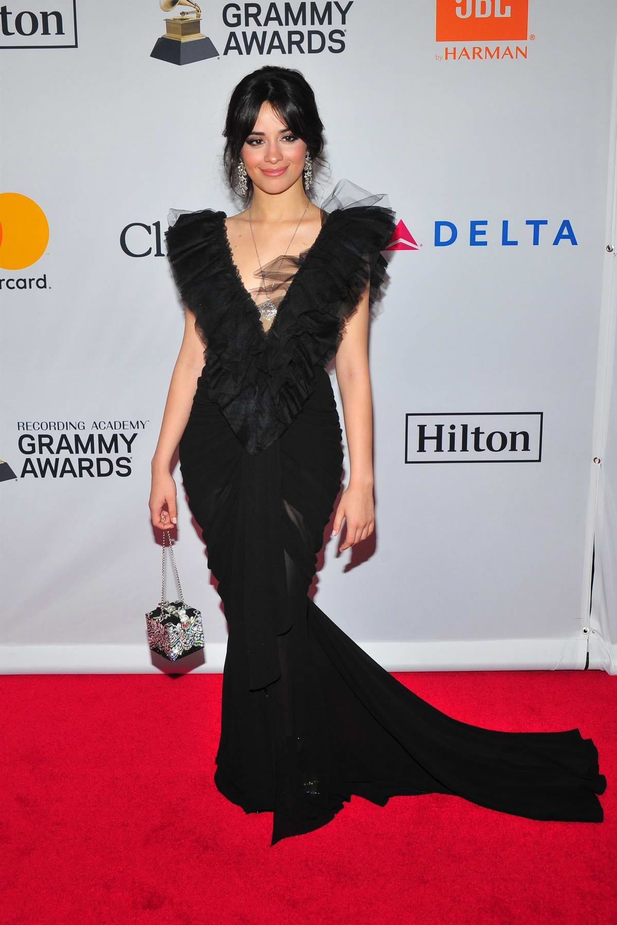 Camila Cabello at the Clive Davis and Recording Academy Pre-Grammy Gala in New York City