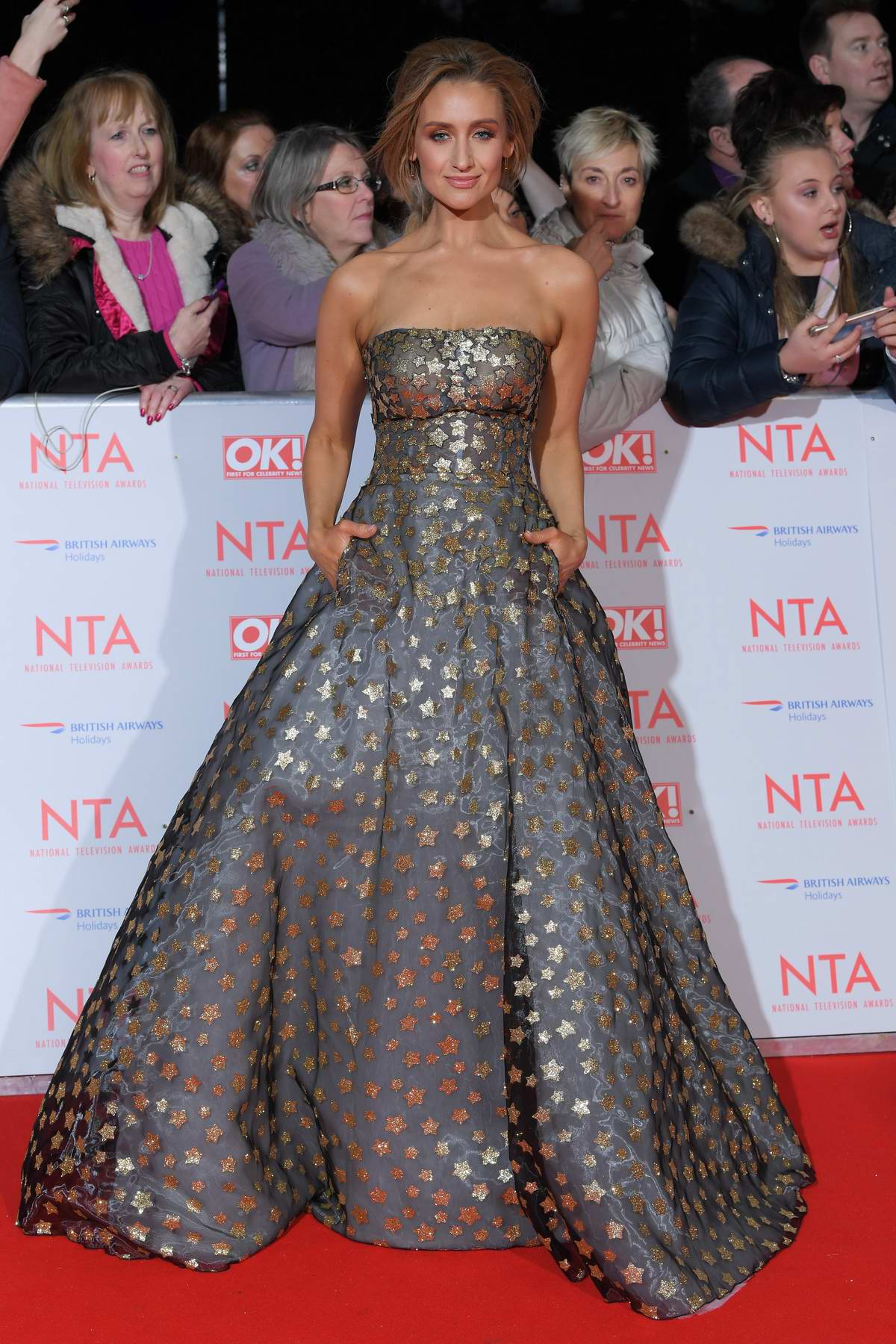 Catherine Tyldesley attends National Television Awards at The O2 Arena in London