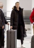 Charlize Theron arrives to film her upcoming movie 'Flarsky' in Montreal, Canada