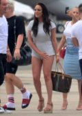 Charlotte Crosby touch down in a private jet in Sydney, Australia
